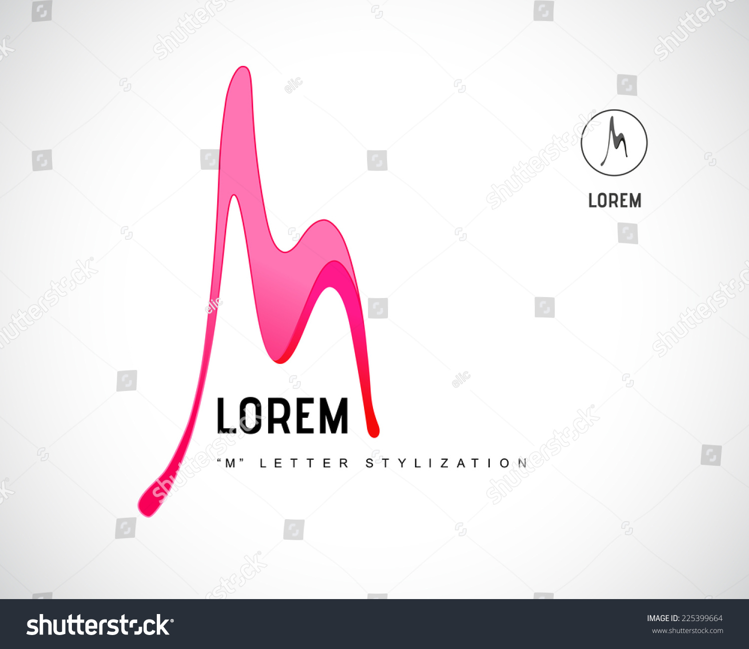 letter m logo stock vector image 63388199 abstract vector logo design template creative stock vector 822