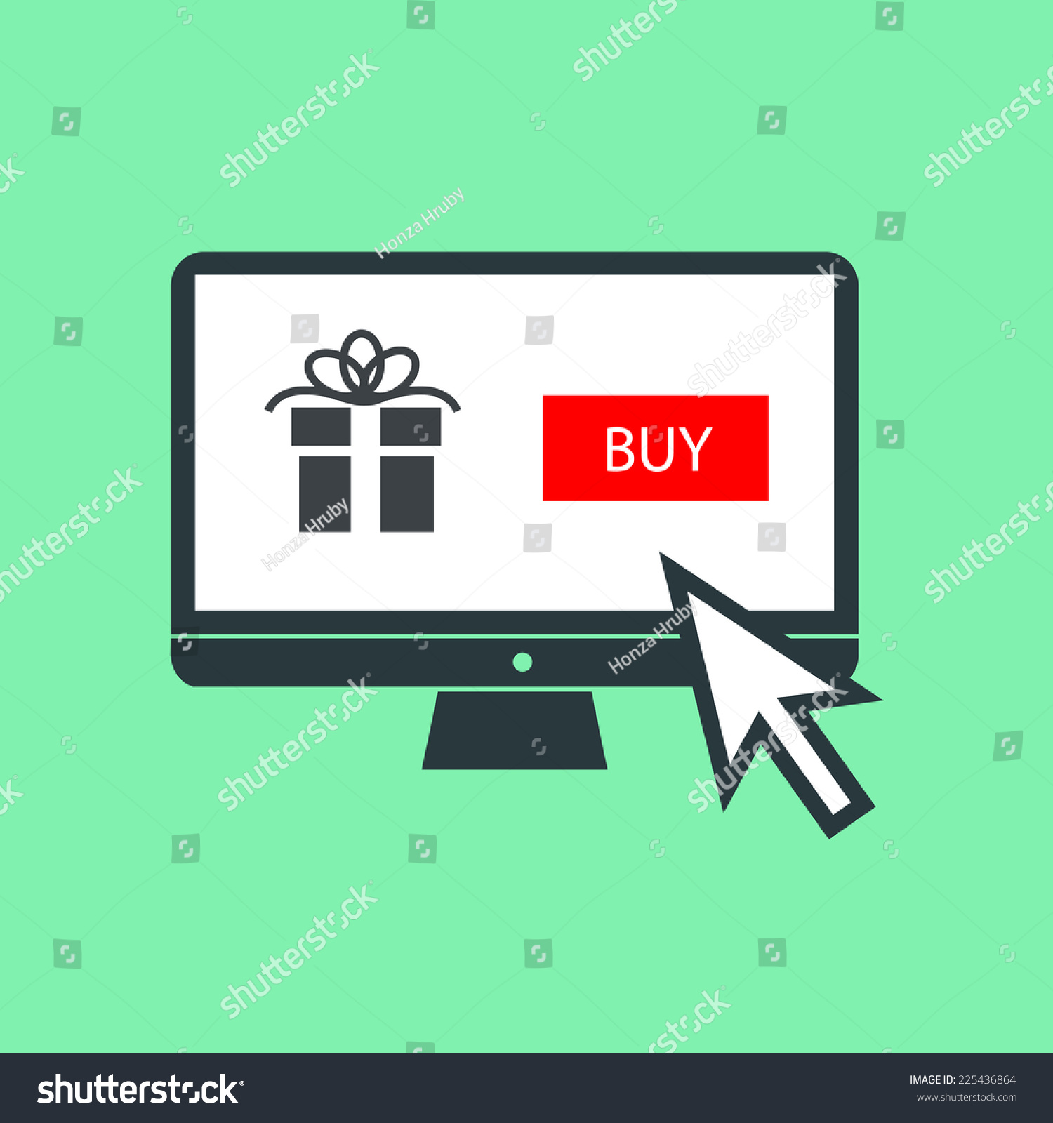 Vector Buying Christmas Gift Online On Stock Vector (Royalty Free ...