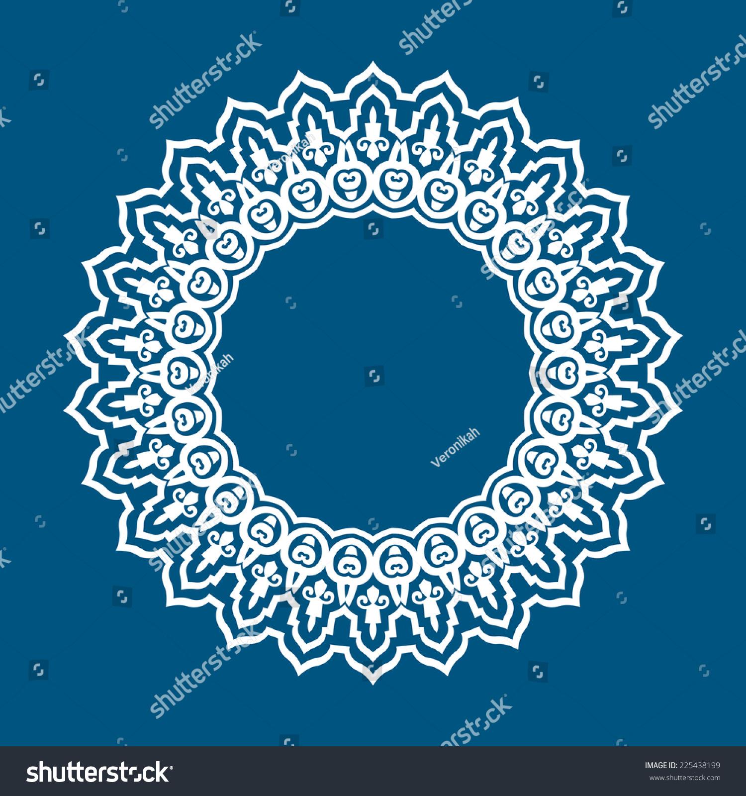 vector abstract circular pattern design mandala stock vector