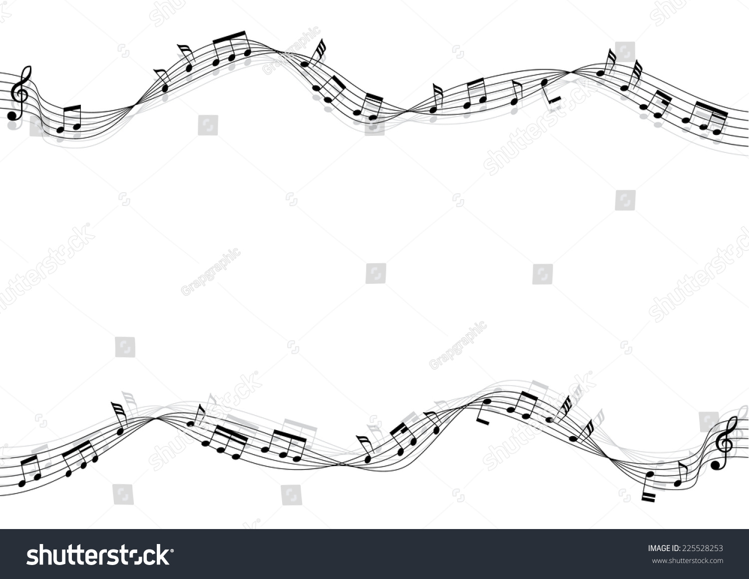 Flowing musical chords shadow vector illustration stock vector flowing of musical chords and shadow a vector illustration hexwebz Image collections