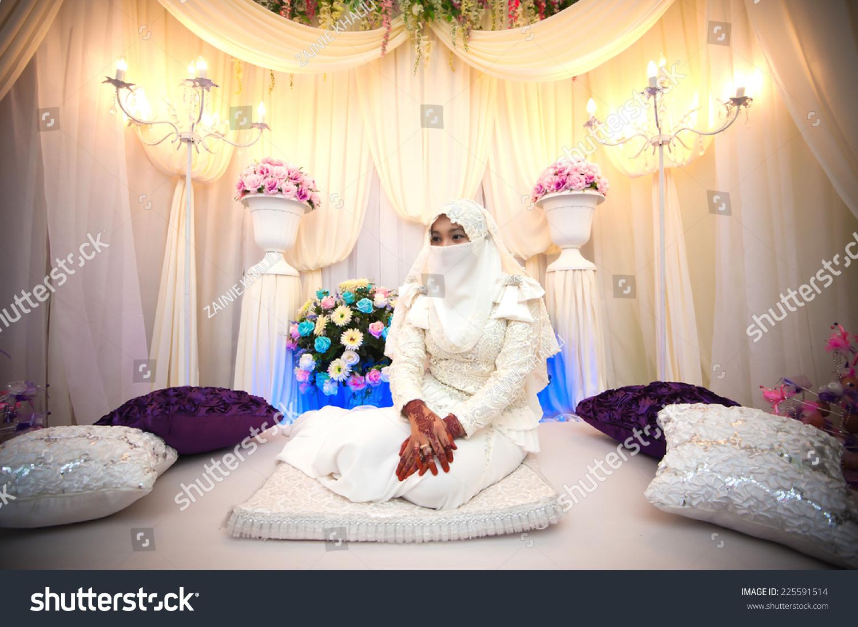 Baju kahwin muslimah www imgarcade com online image arcade - Portrait Of Beautiful Niqab Bride Sitting On The Bridal Wallpaper Gallery Image Gallery