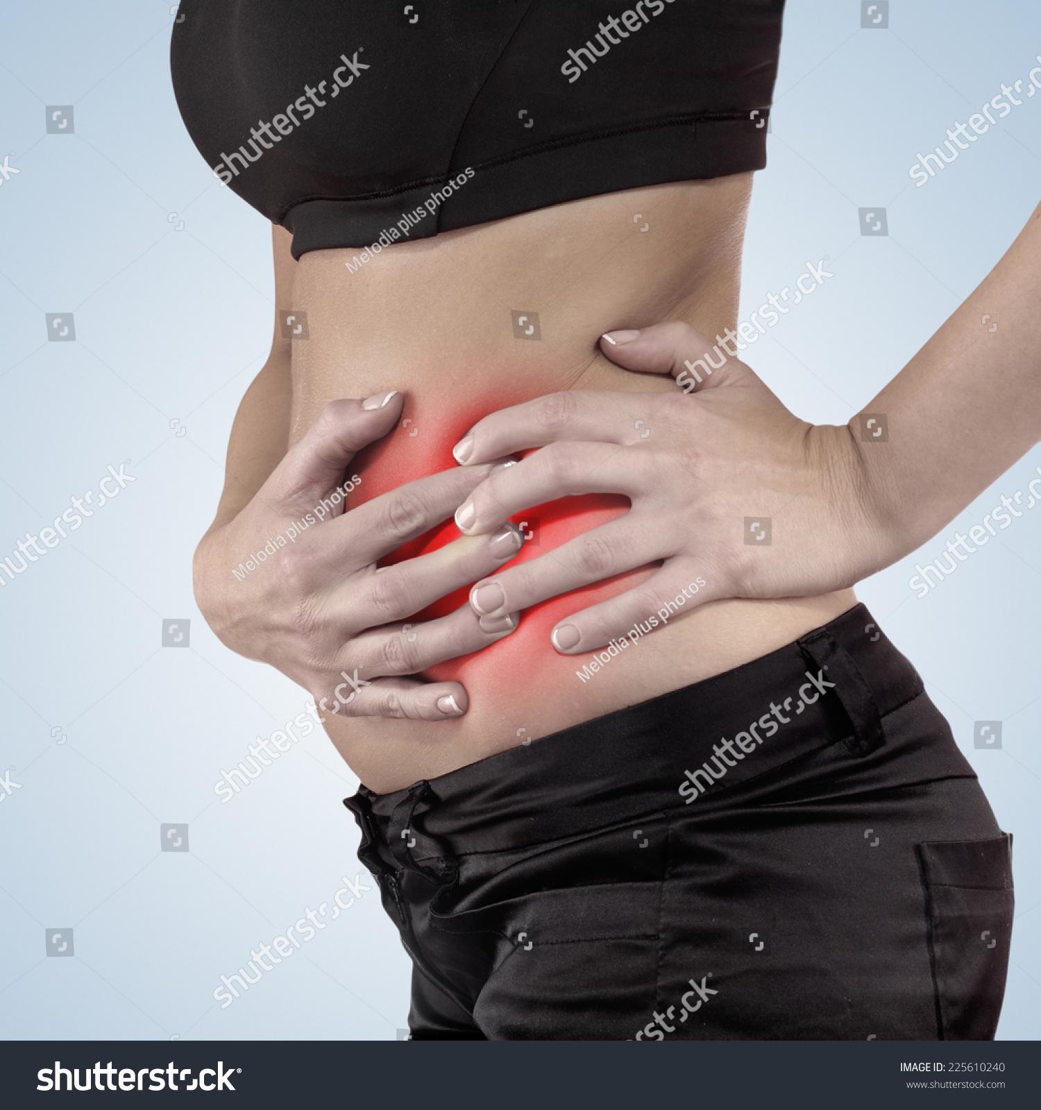 Pain Left Side Body Girl Black Stock Photo Royalty Free 225610240