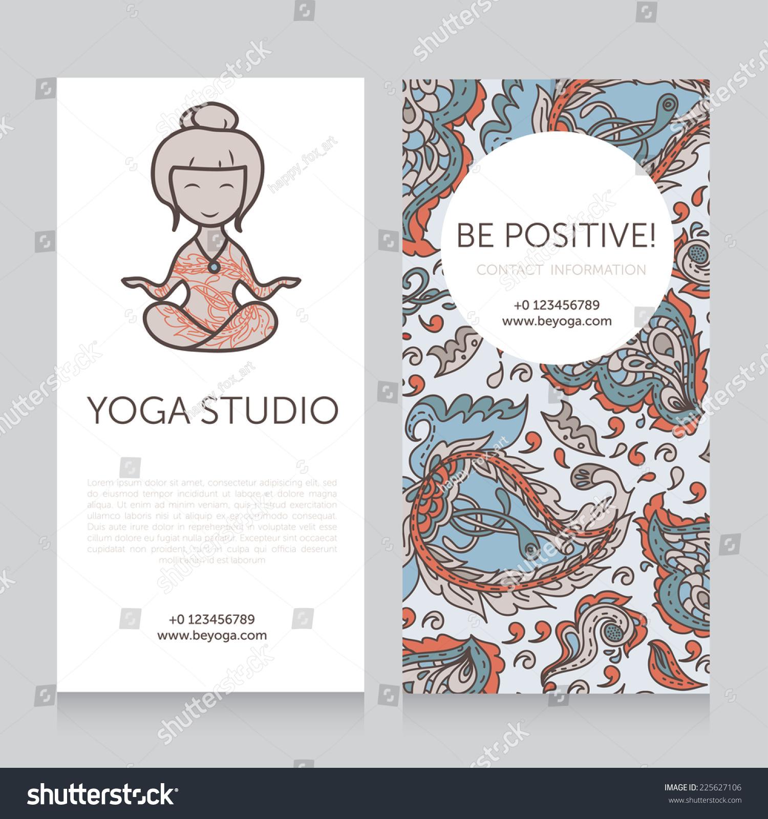 Paisley design template yoga studio business stock vector paisley design template for yoga studio business card vector illustration magicingreecefo Images