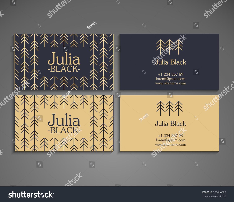 Vintage Business Card Stock Vector 225646495 - Shutterstock