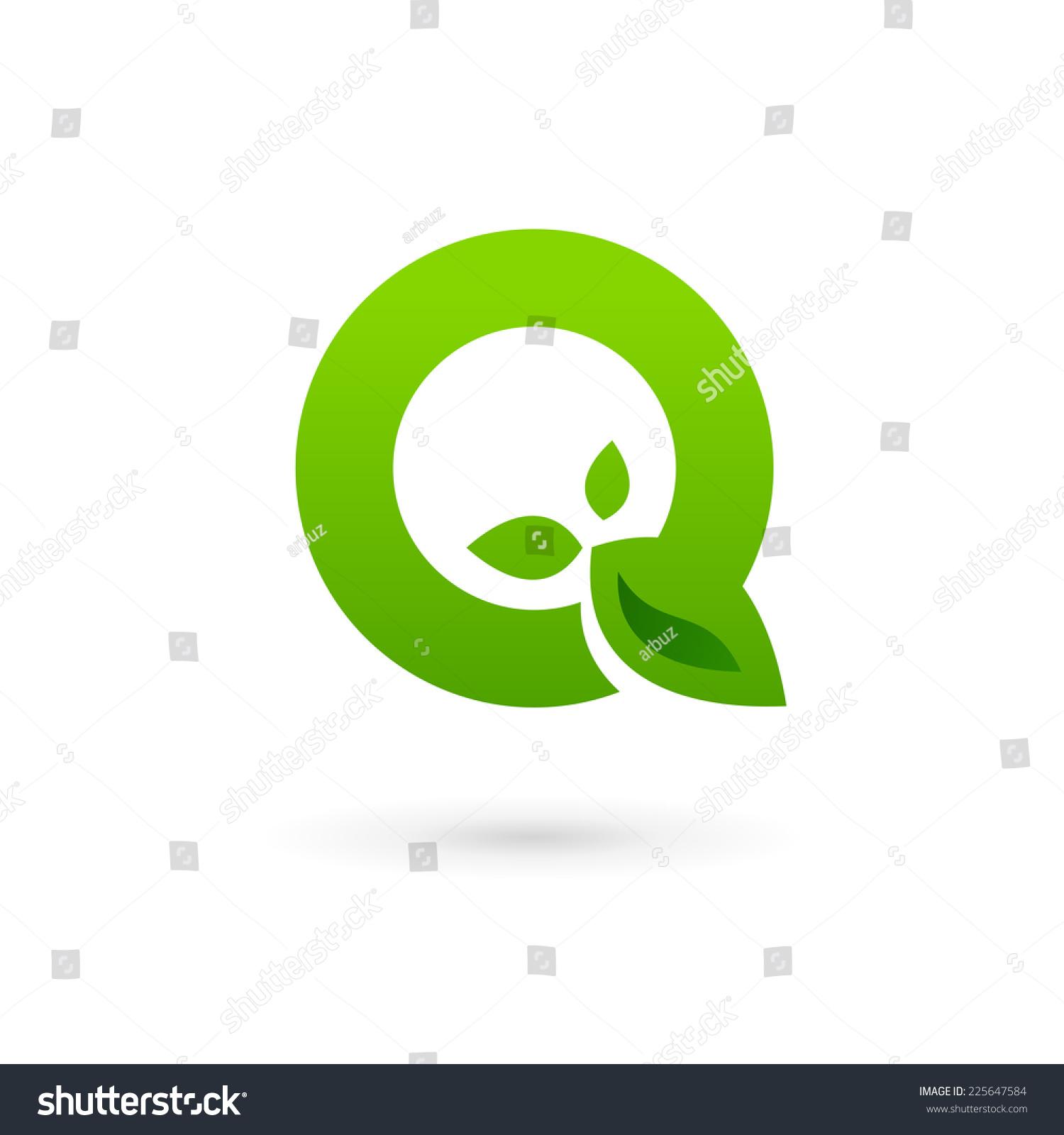 Letter Q Eco Lea...Q Letter Logo