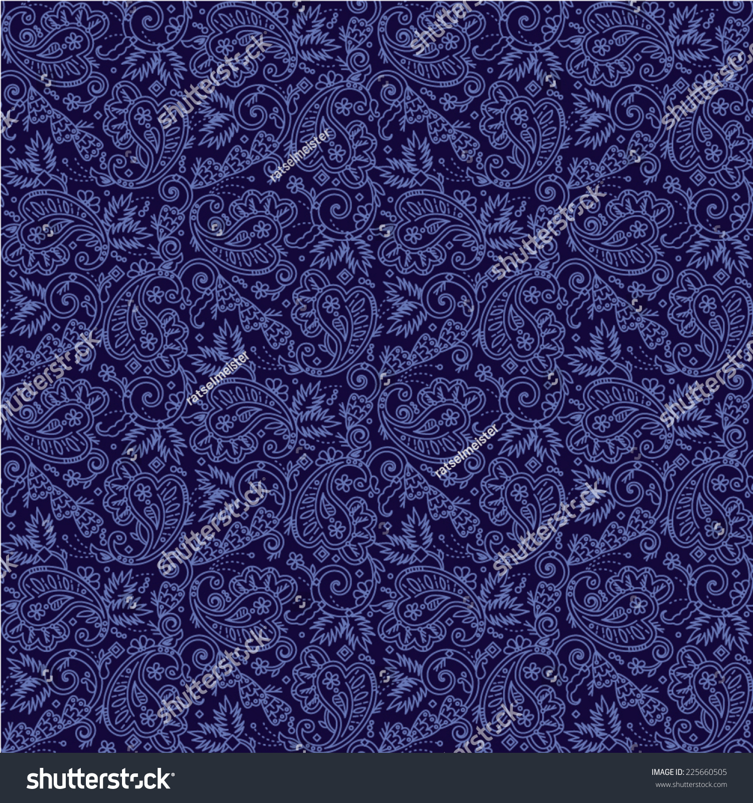 Seamless you see 4 tiles paisley stock vector 225660505 for Textured tile wallpaper