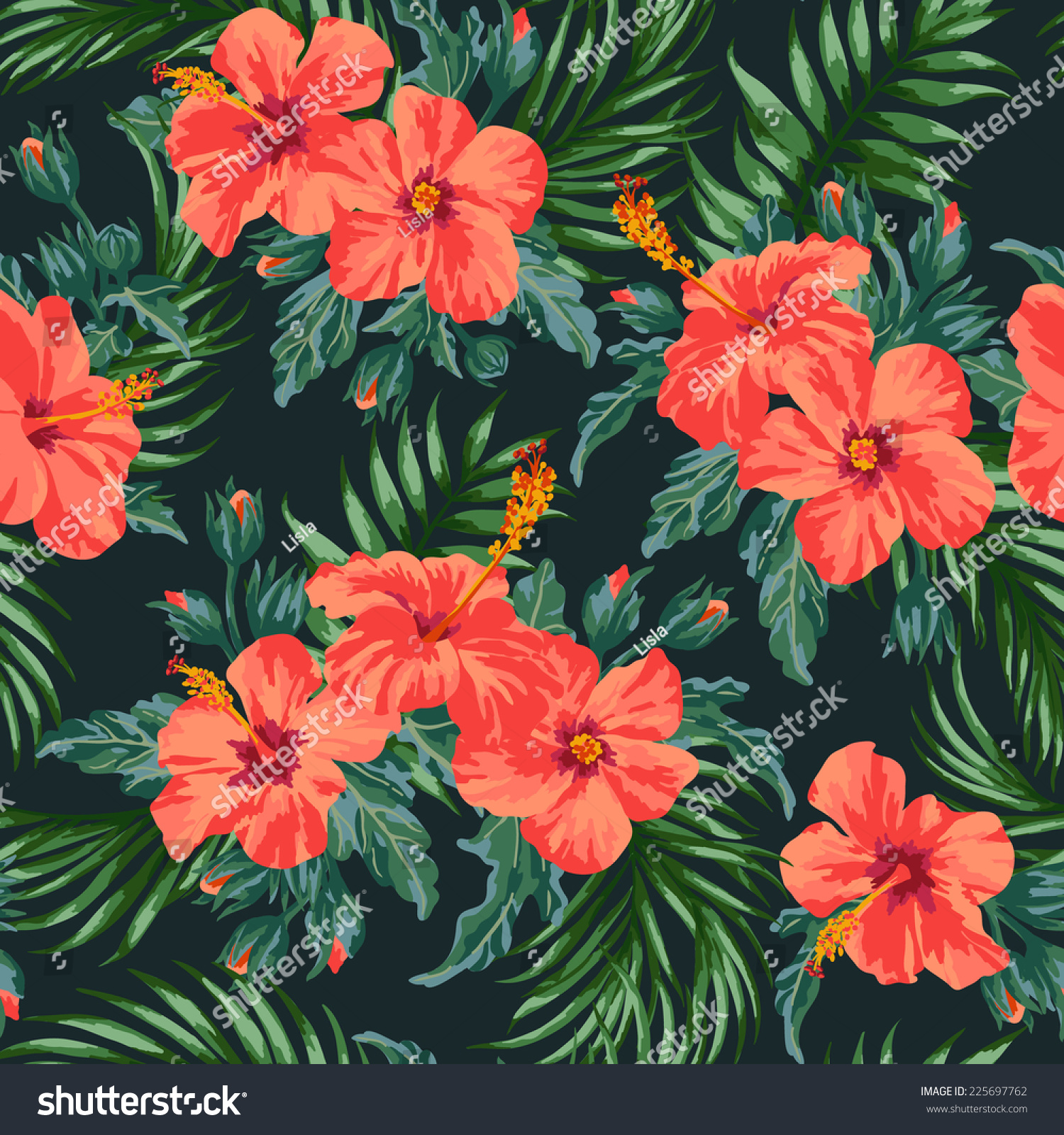 gallery for gt black hawaiian print background