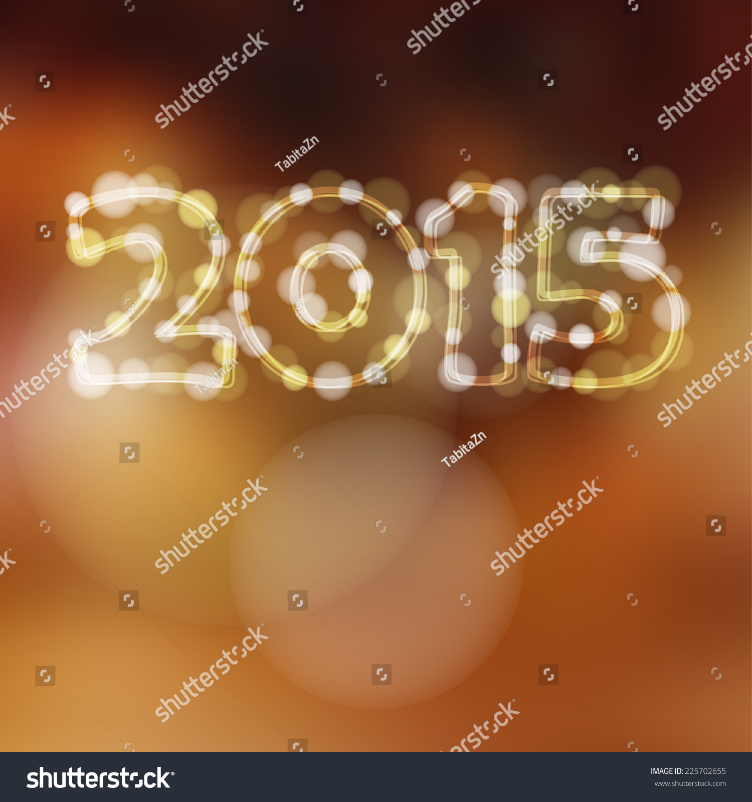Happy new year greeting card 2015 stock vector 225702655 happy new year greeting card with 2015 glitter lights vector illustration background kristyandbryce Choice Image