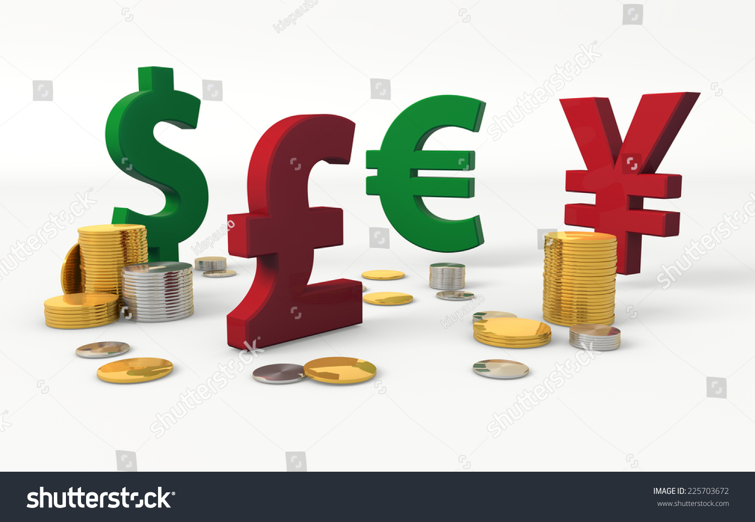Royalty Free Stock Illustration Of Foreign Currencies Symbols Dollar