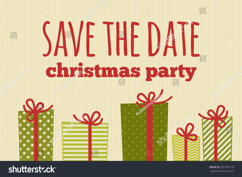 christmas save date card illustration christmas stock vector