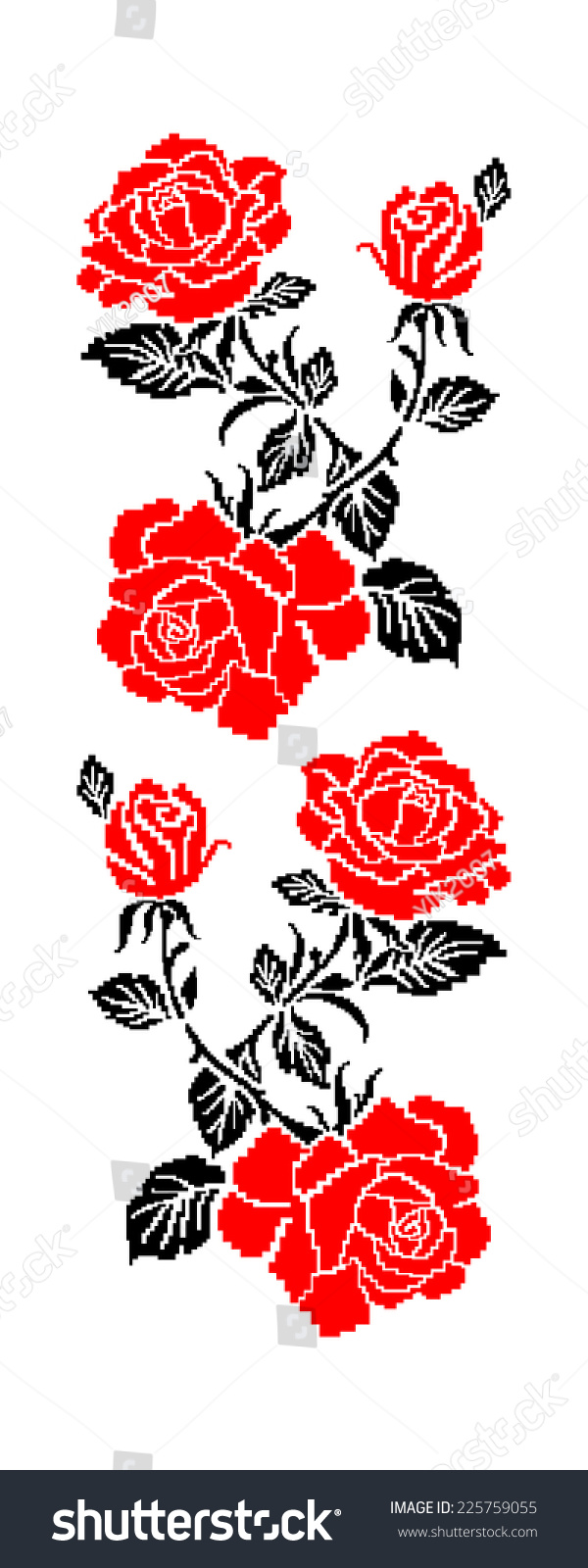 Color Image Flowers Roses Using Traditional Stock Illustration ...