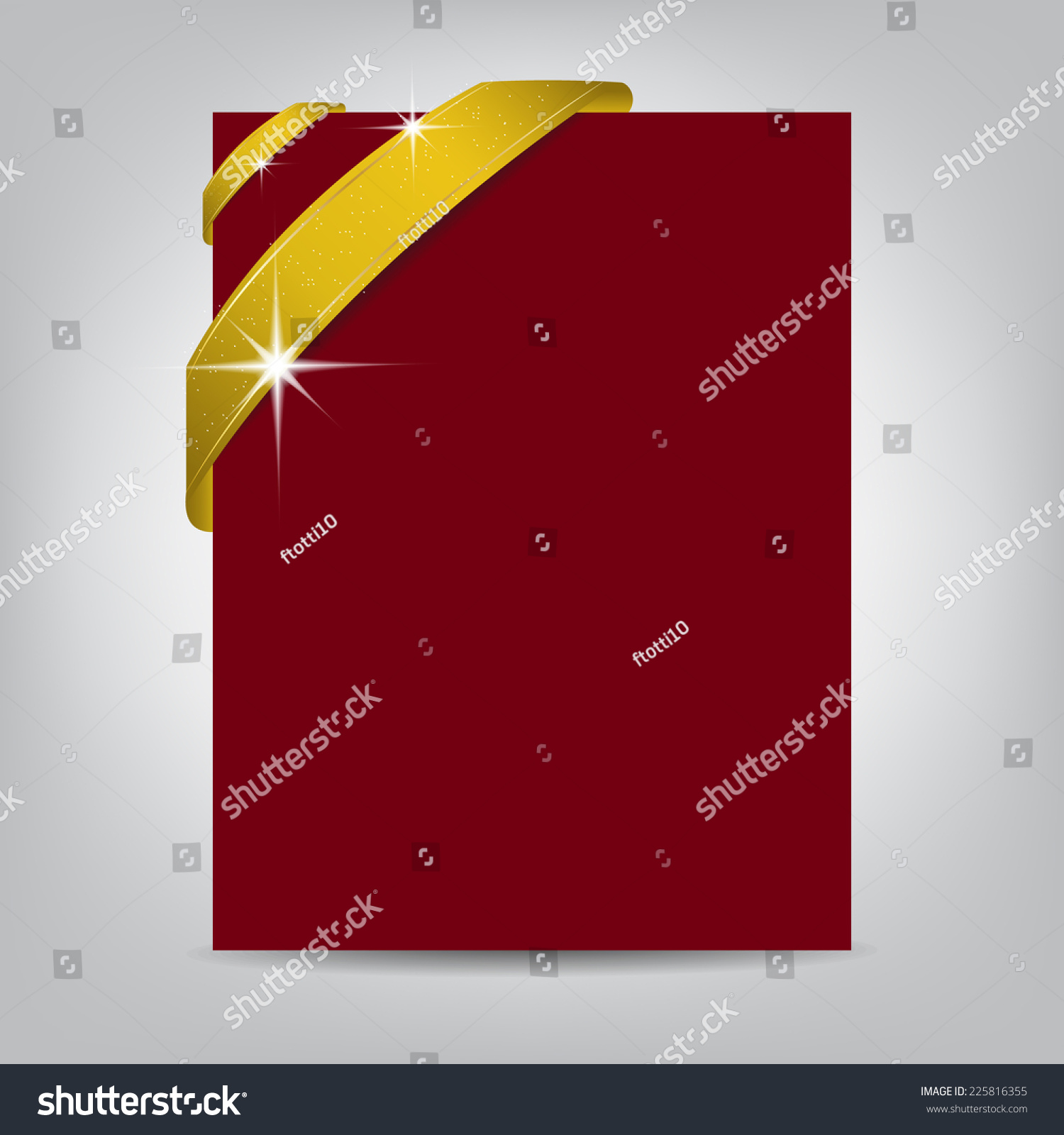 Christmas Flyer Template Blank Paper Banner Stock Vector 225816355 ...