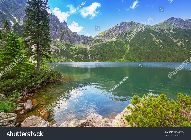 Eye sea lake tatra mountains poland stock photo 225843886 eye of the sea lake in tatra mountains poland biocorpaavc