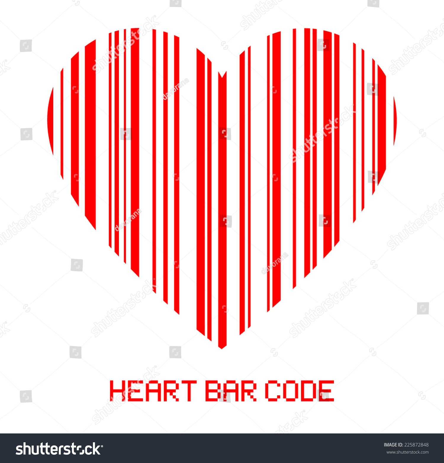 Barcode style heart shape symbol red stock vector 225872848 the barcode style heart shape symbol red color bar code sign design love for buycottarizona Choice Image