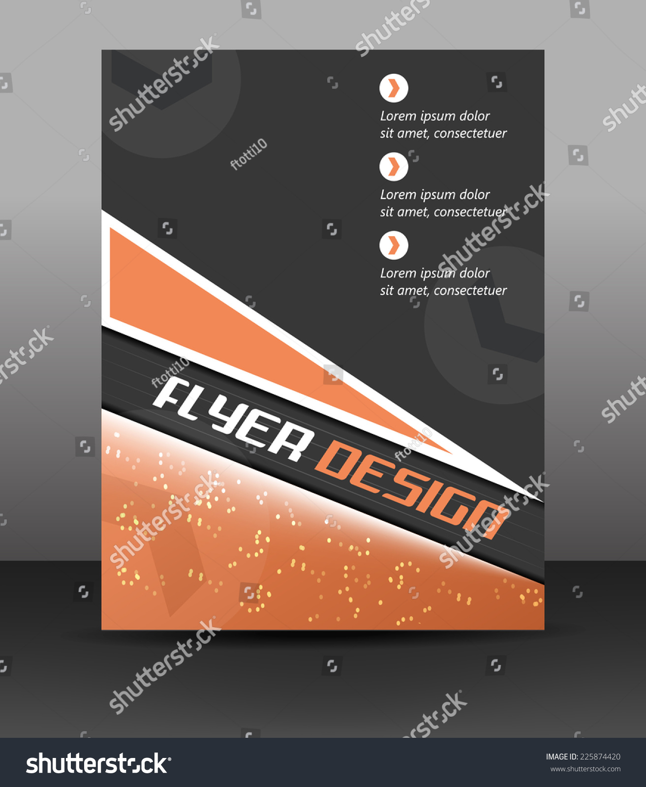 Business Flyer Template Corporate Banner Brochure Stock Vector