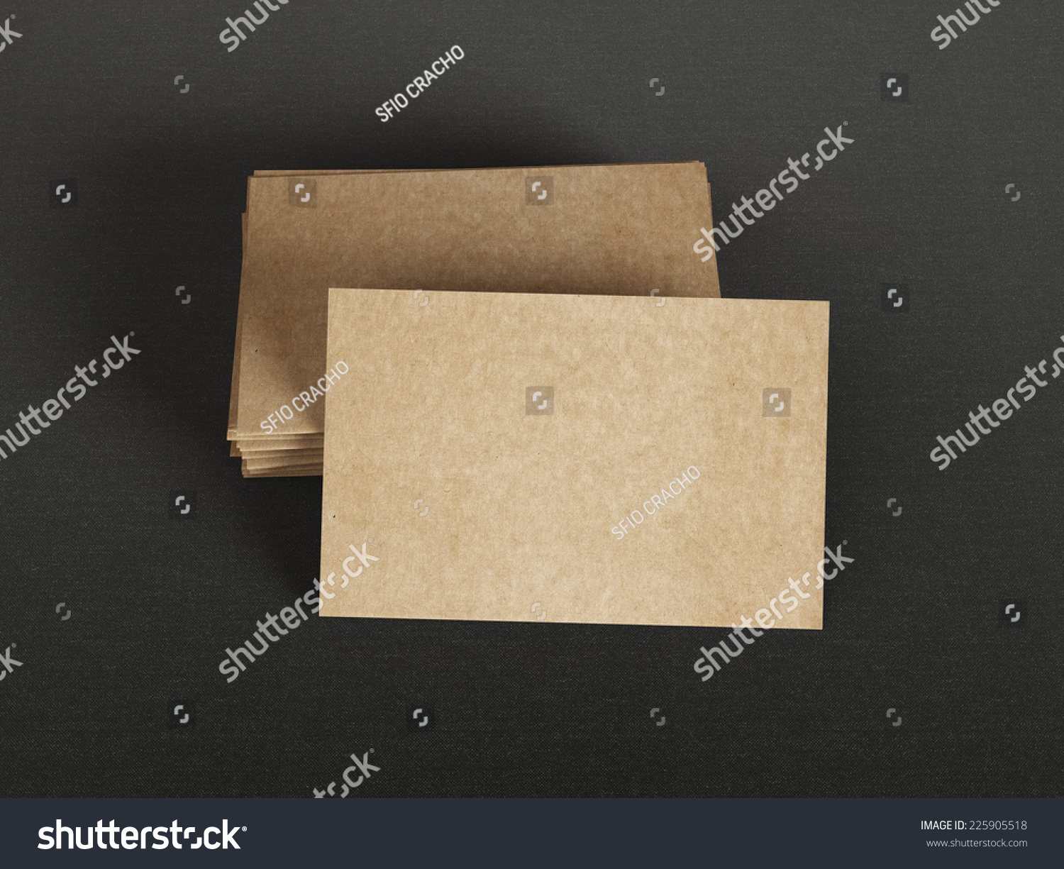 Cardboard Business Cards On Textile Background Stock Photo 225905518 ...