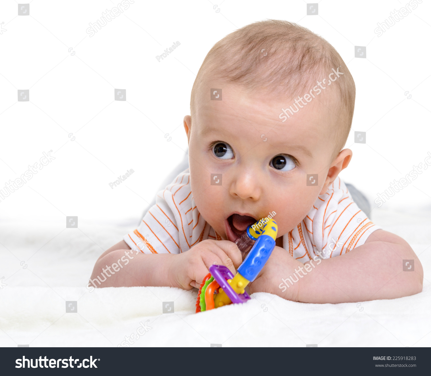 6 Months Old Baby Boy Playing Stock Shutterstock
