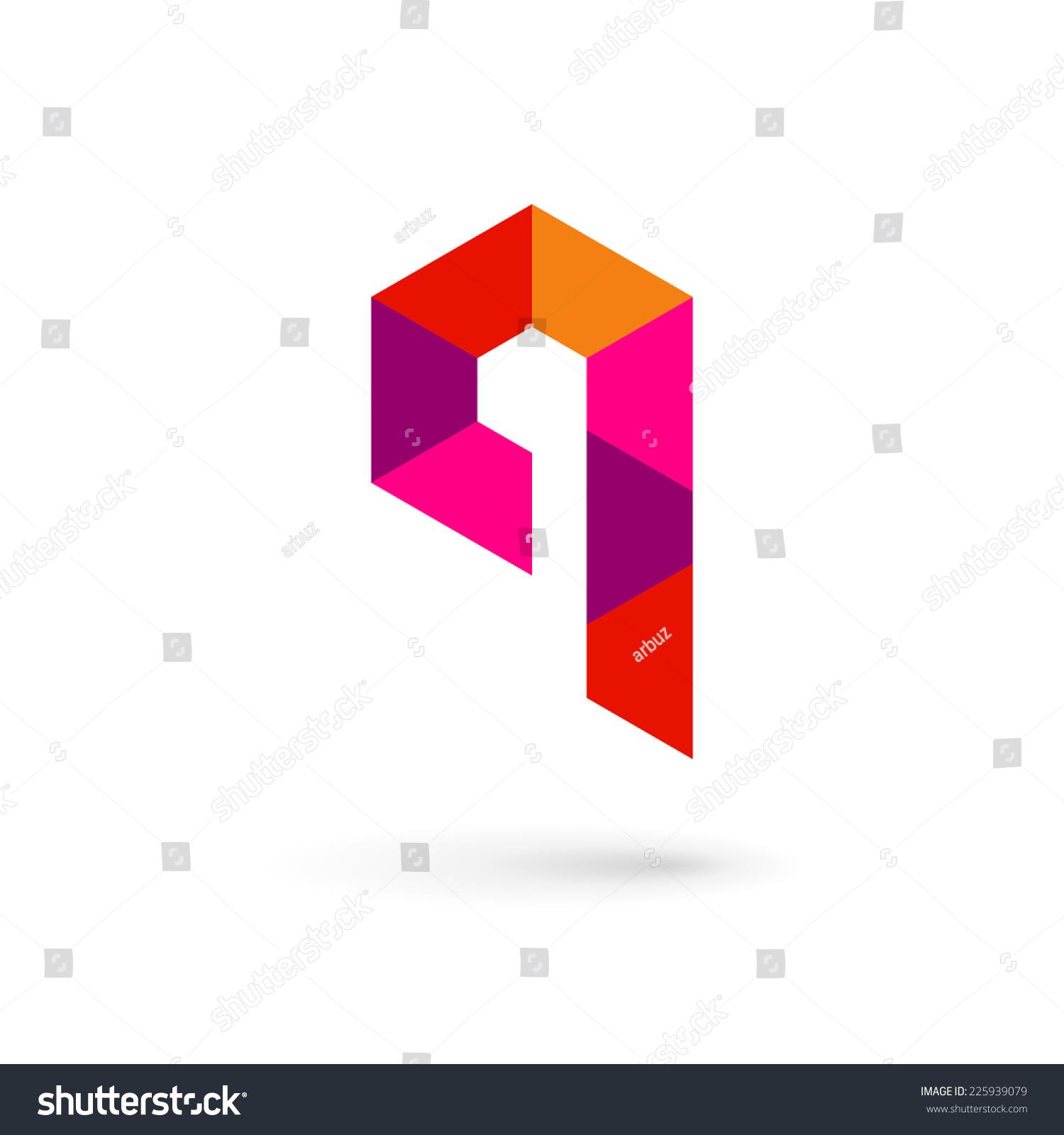 Letter Q mosaic logo icon design template elements