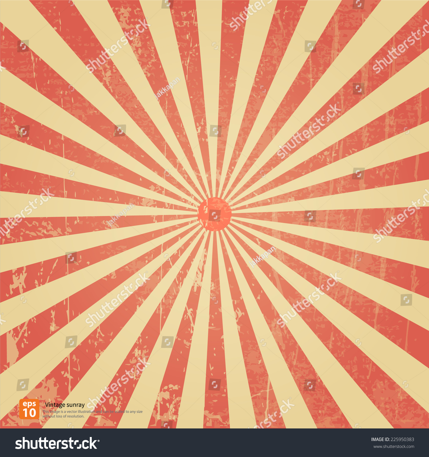 New Vector Vintage Red Rising Sun Stock Vector 225950383 ... Vintage Burst Background