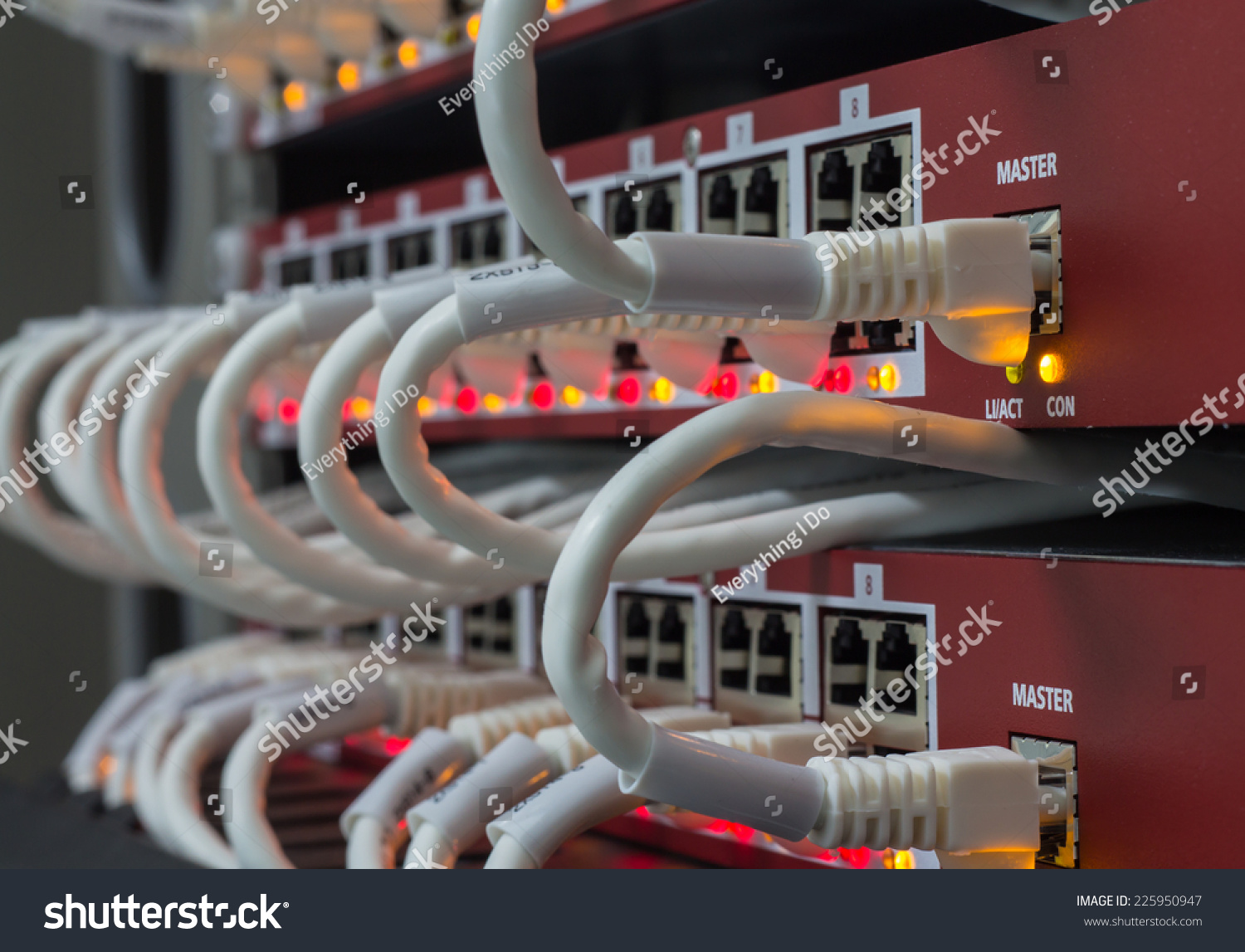 Local Area Network Switch LAN Ethernet Stock Photo (Royalty Free ...