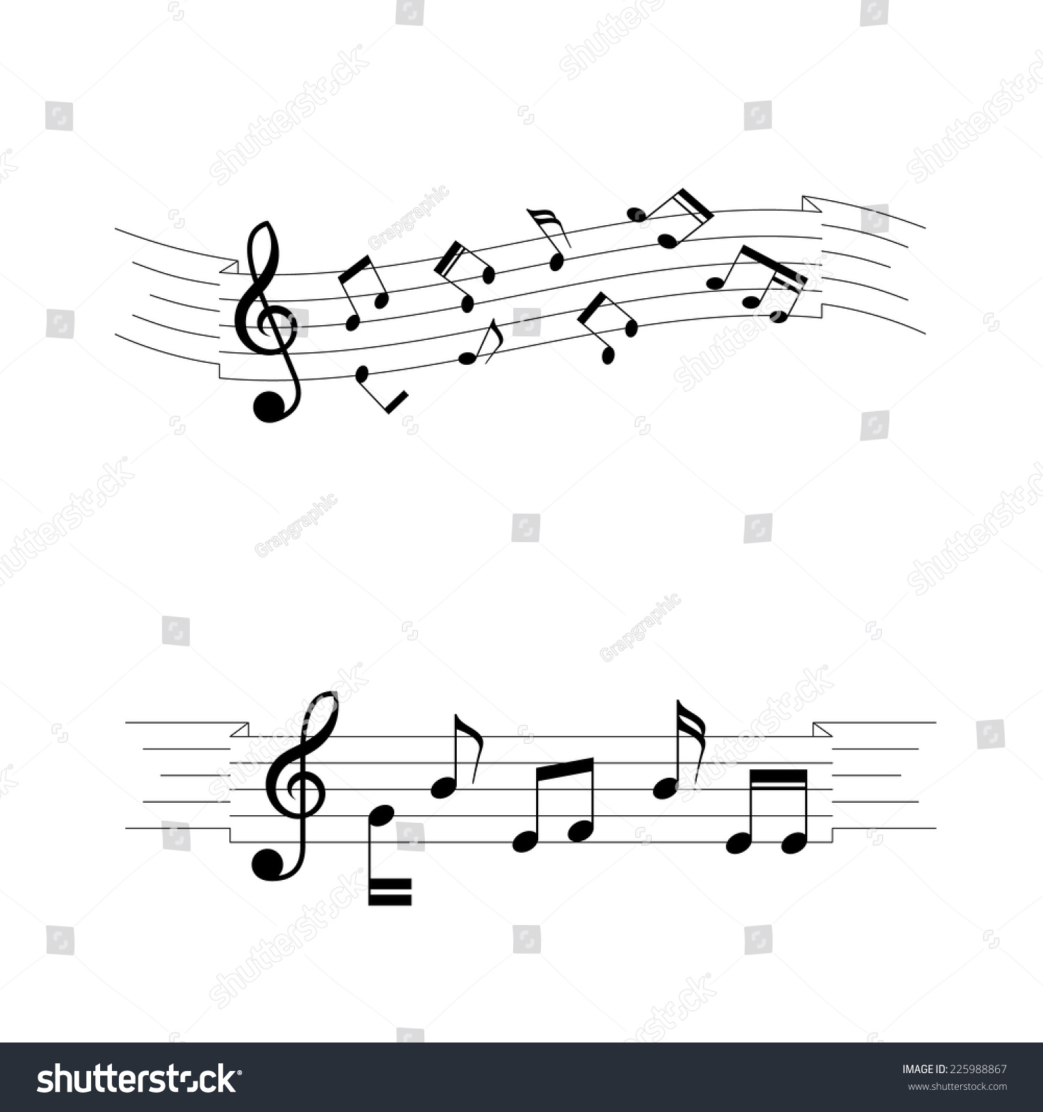 Musical chords wave ribbon style vector stock vector 225988867 musical chords wave ribbon style a vector illustration hexwebz Image collections
