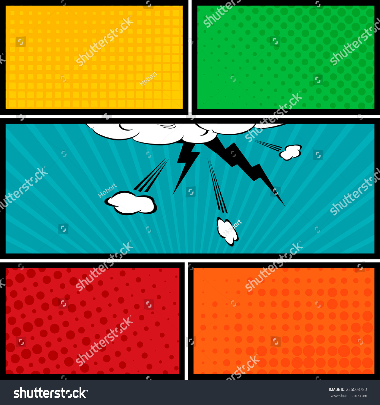 Comic Speech Bubbles And Comic Strip Background Vector Illustration ...