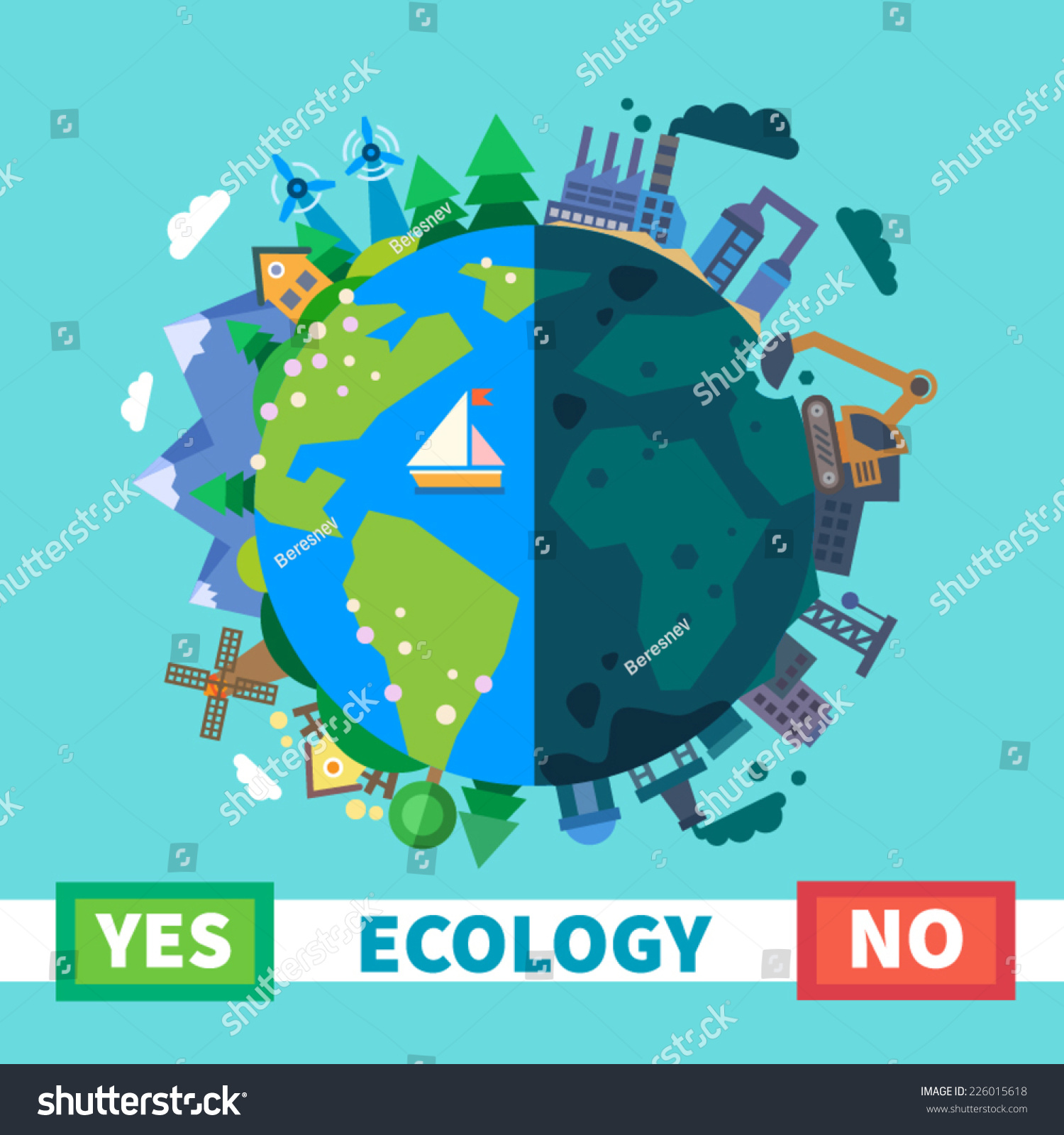 Nature Ecology: Ecology Environmental Protection Nature Pollution Vector