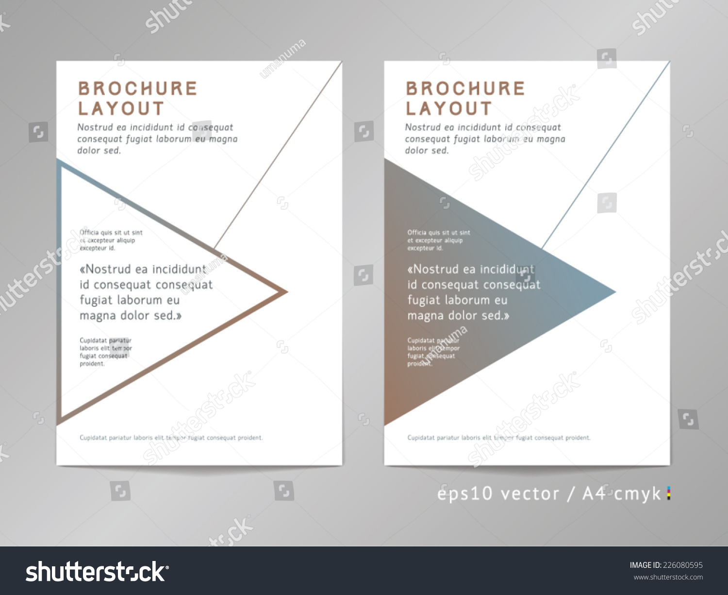 annual report brochure leaflet cover page stock vector 226080595 annual report brochure leaflet cover or page layout template modern mini st design