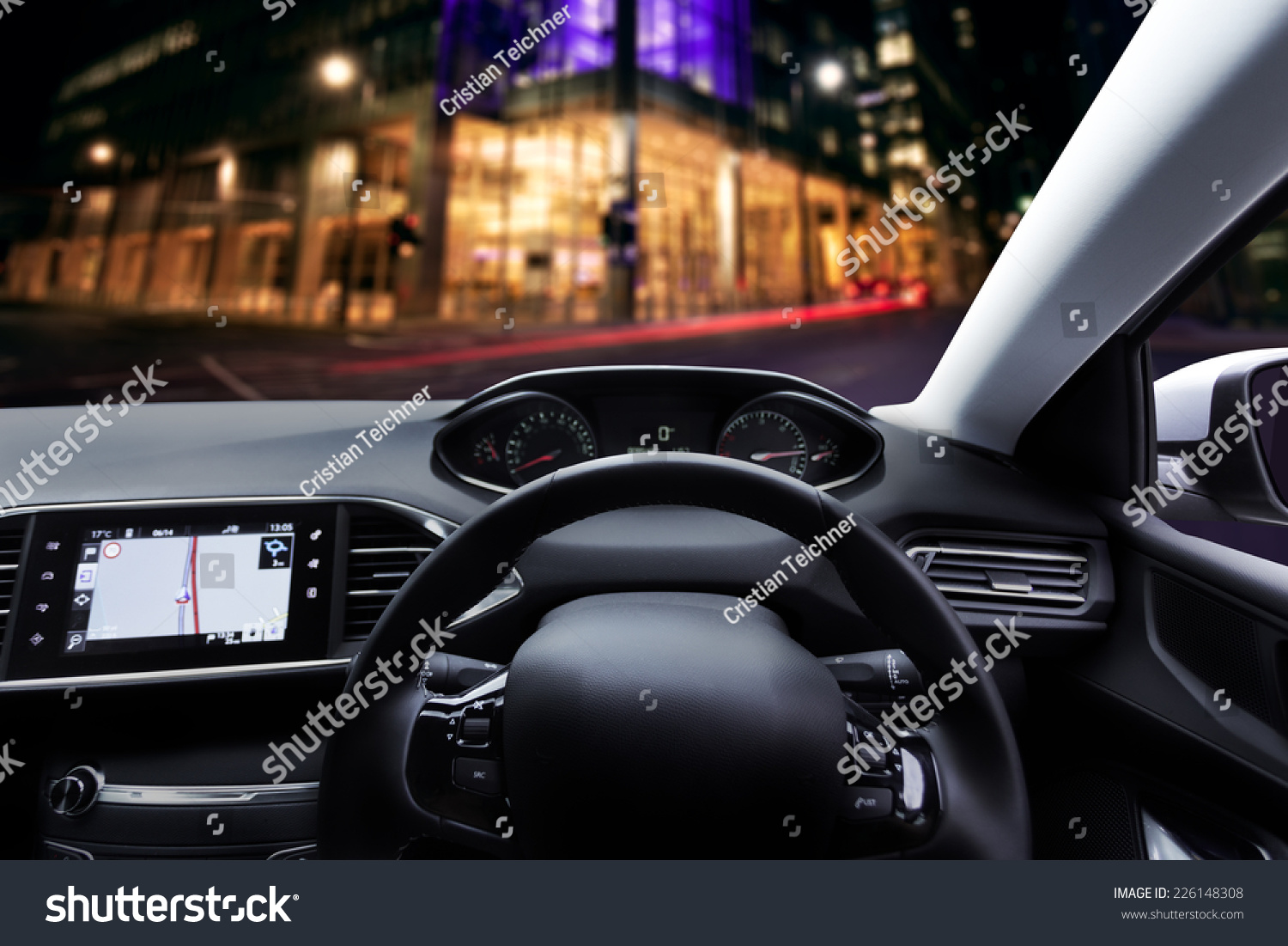 car dashboard interior with right hand drive side steering wheel stock photo 226148308. Black Bedroom Furniture Sets. Home Design Ideas