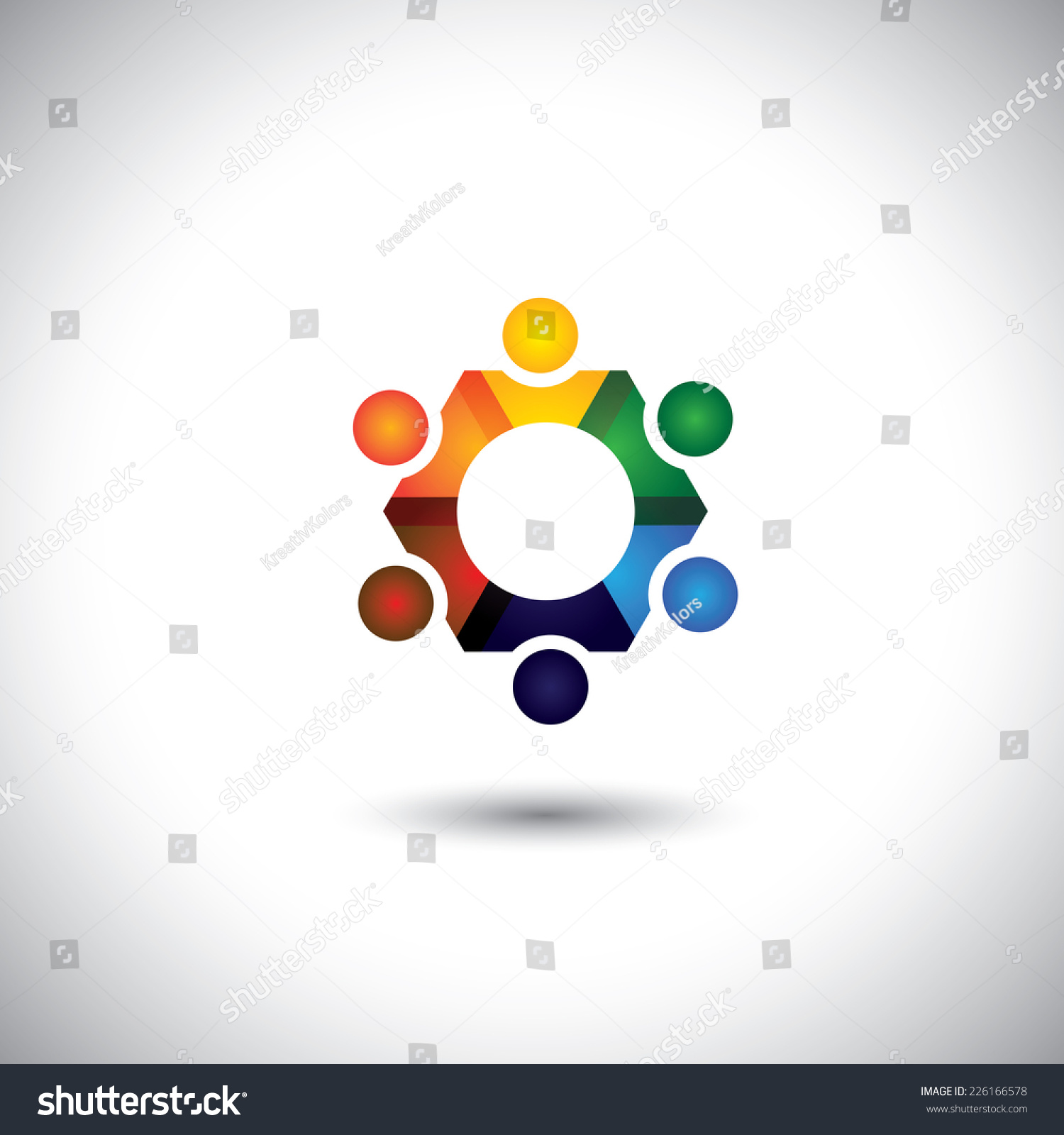 people in circle community or team of kids employees vector people in circle community or team of kids employees vector icons this graphic
