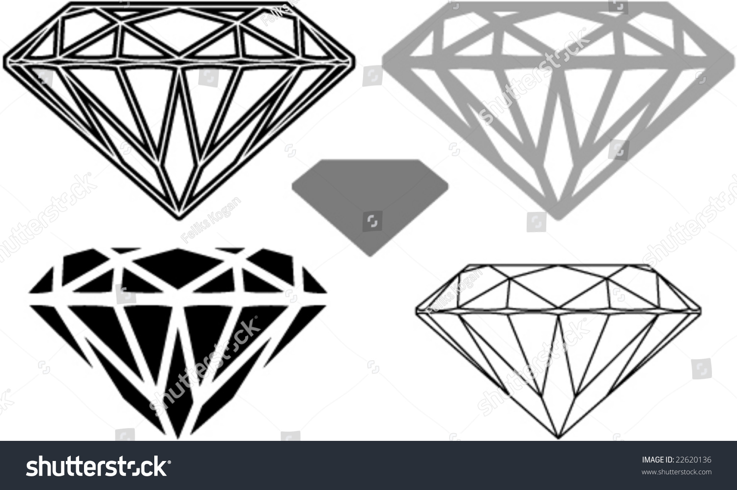 Diamond Shape Cutting Clipart Stock Vector 22620136