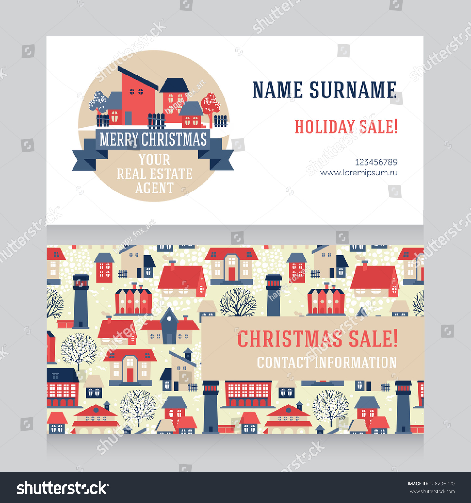 design template real estate agent business stock vector