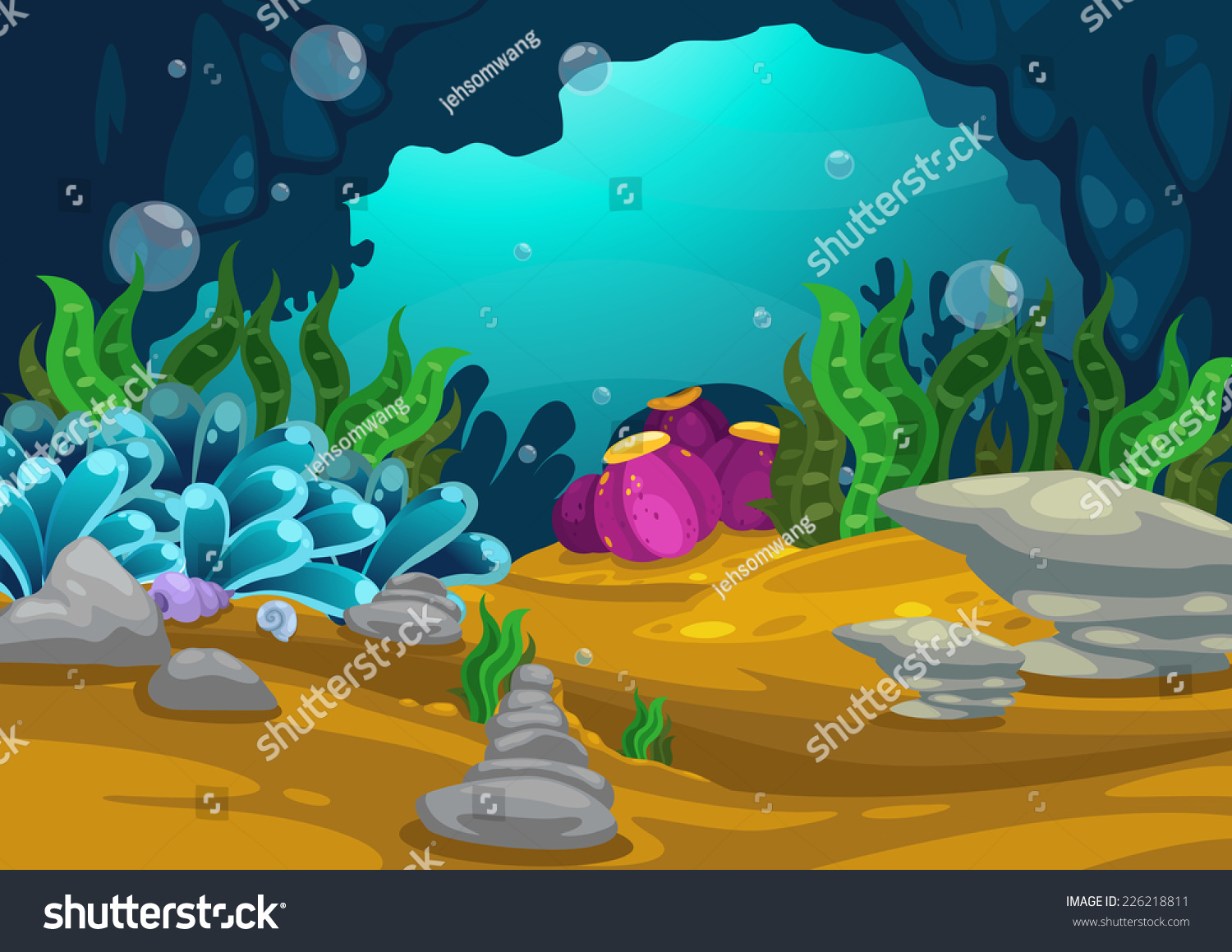 Stock Vector Illustration Of Under The Sea Background Vector