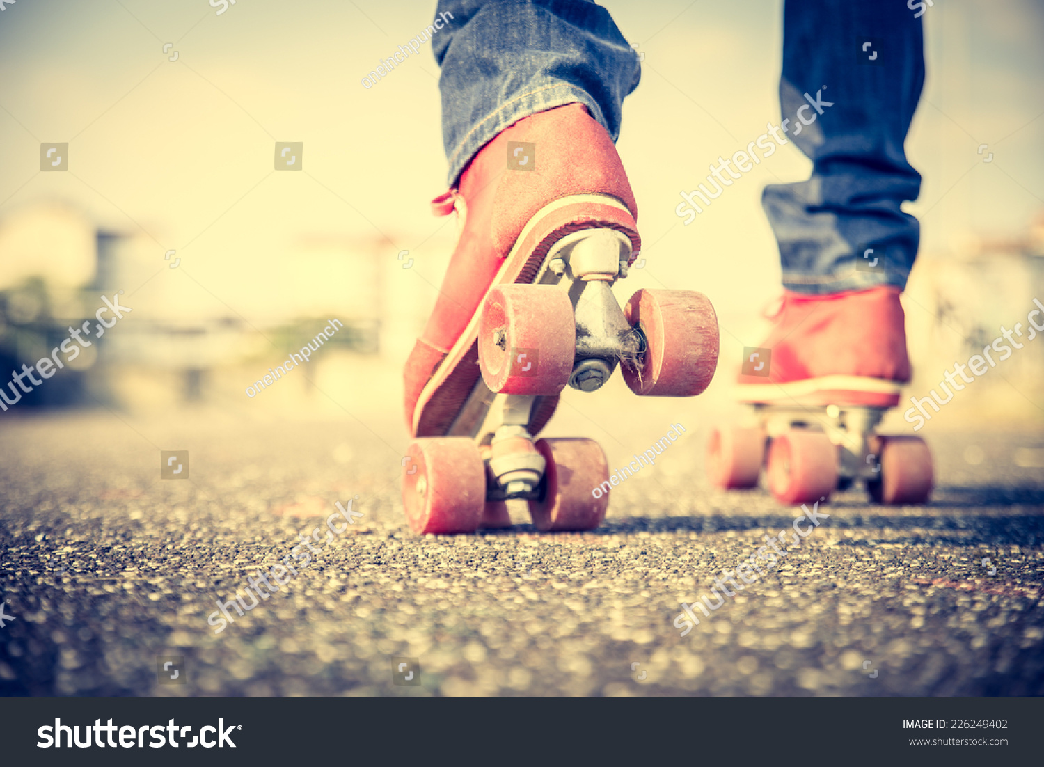 Roller skate shoes in sydney - Close Up On Roller Skate Shoes Concepts Of Youth Sport Lifestyle And 80s
