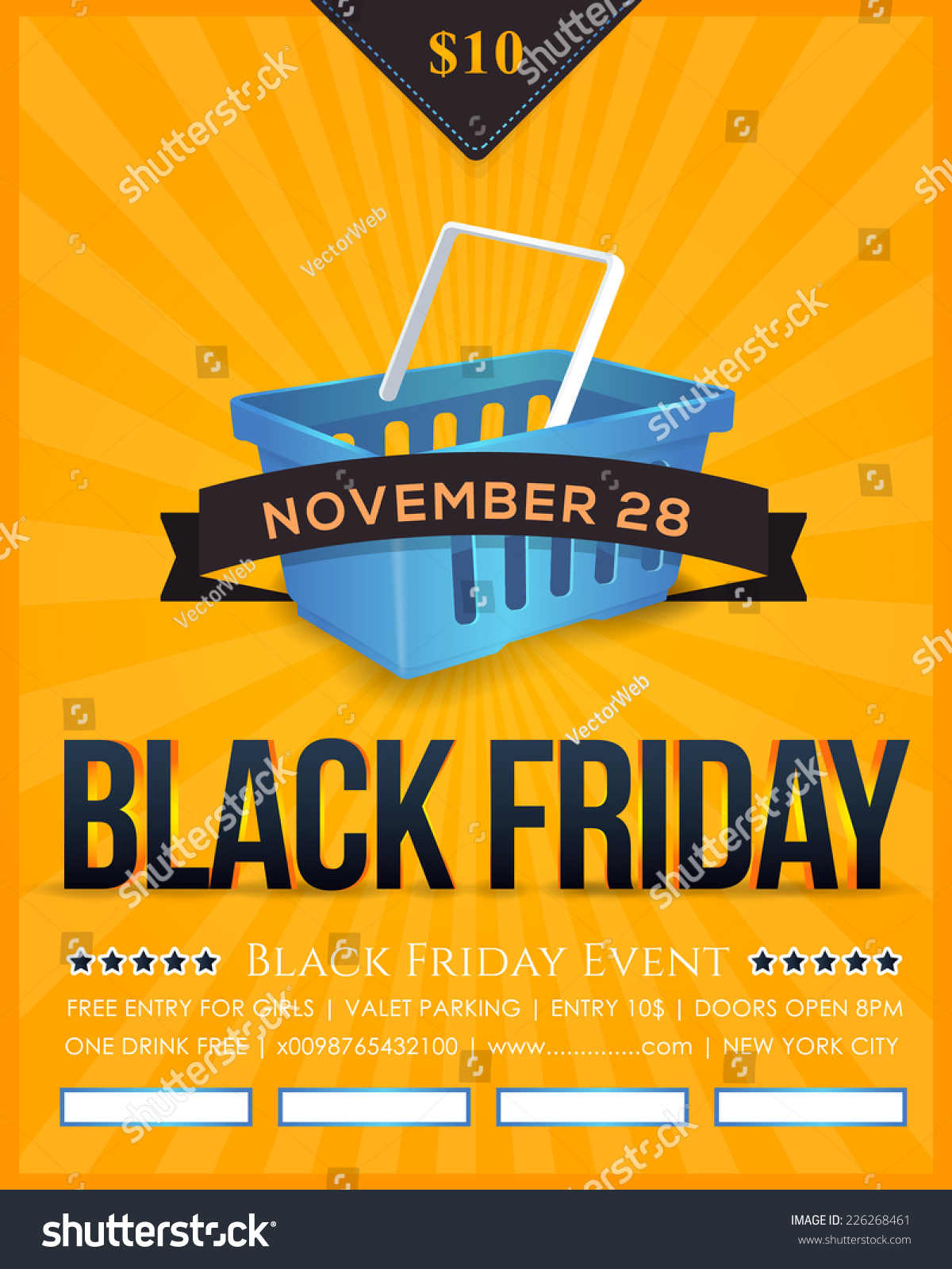retro style black friday poster stock vector  retro style black friday poster flyer advertising template