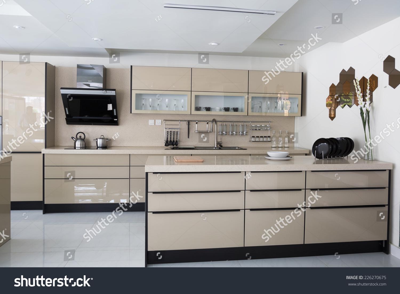 Modern Kitchen Set Stock Photo Edit Now 226270675 Shutterstock