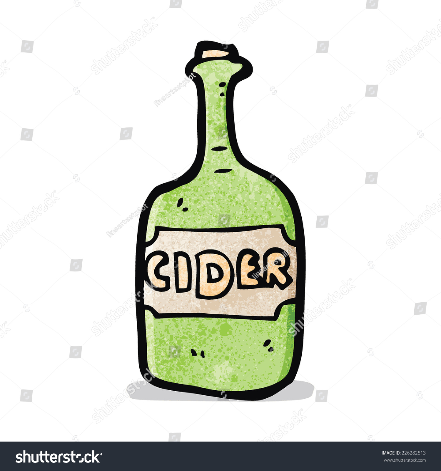 Cartoon Cider Bottle Stock Vector (Royalty Free) 226282513