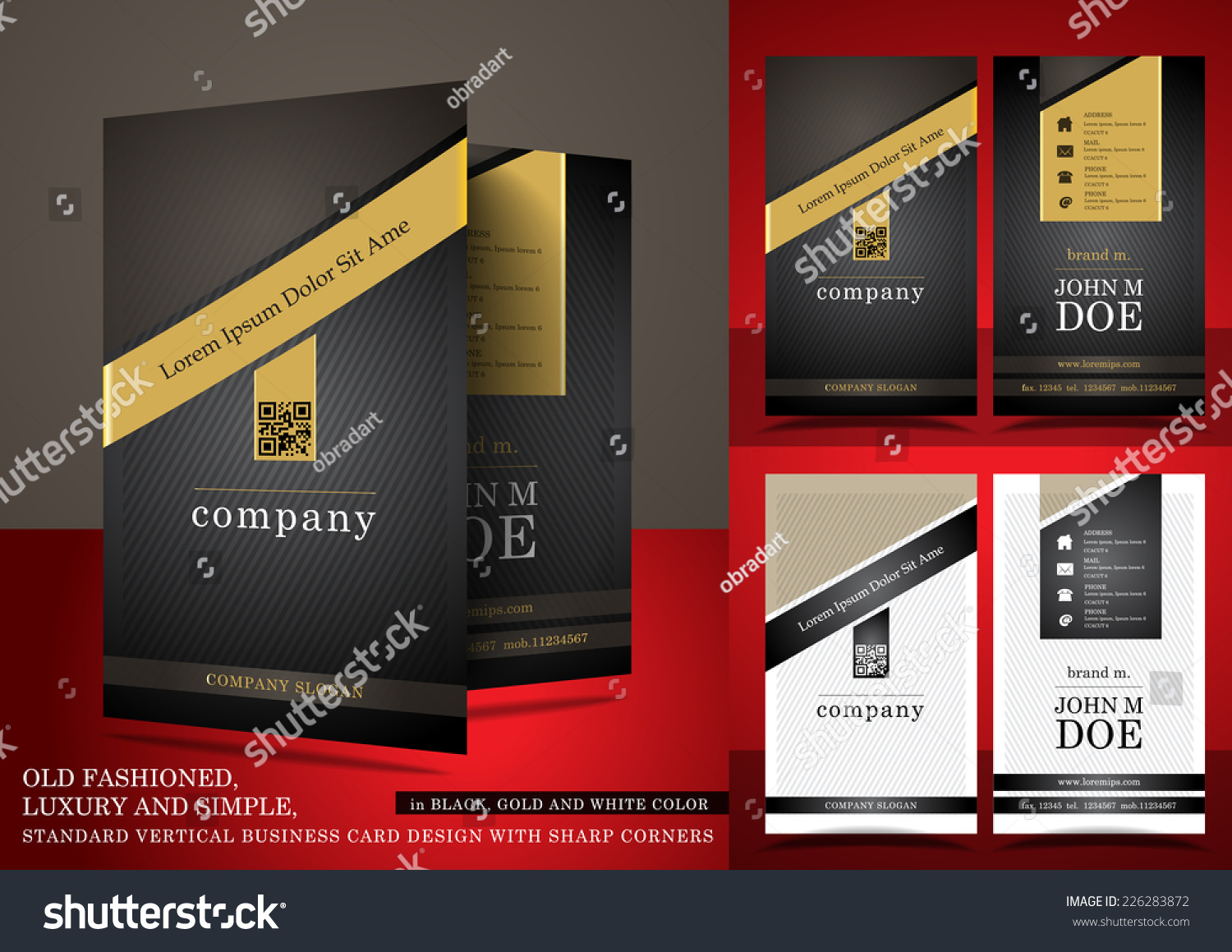 Old Fashioned Business Card Black Gold Stock Photo (Photo, Vector ...