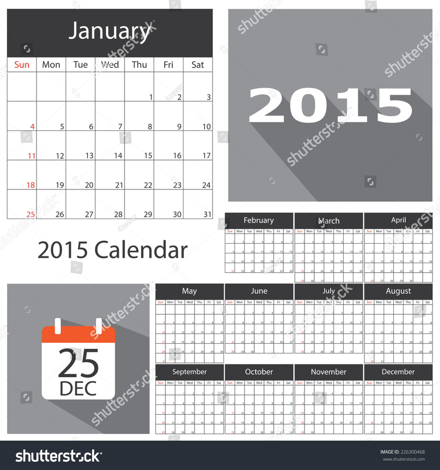 Funky 2015 Business Calendar Template Picture Collection Example