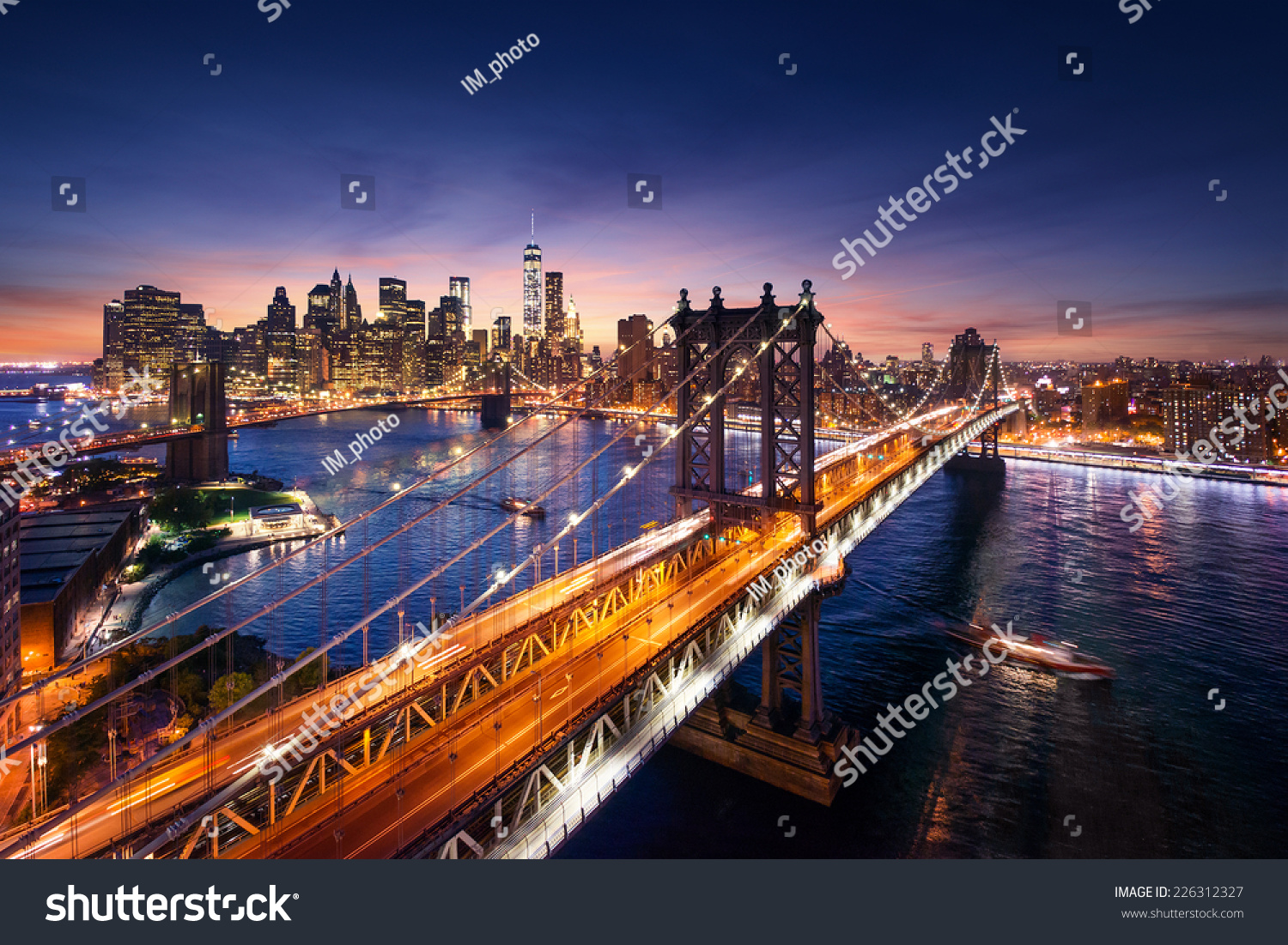 New york city beautiful sunset over manhattan with for New york city beautiful