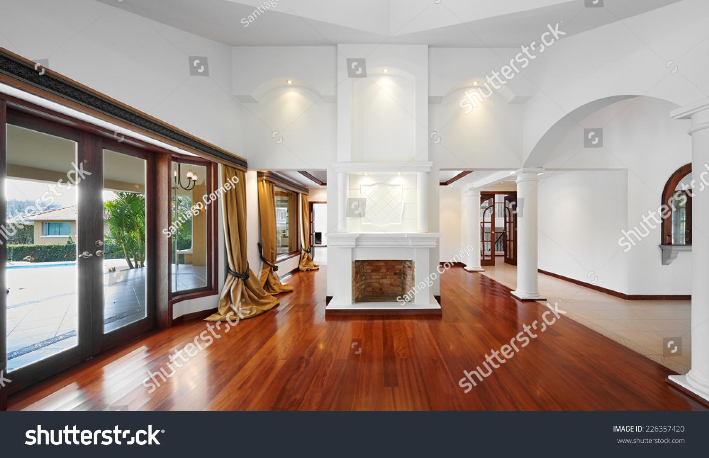 Big empty living room -  Interior Design Big Empty Living Room Stock Photo 226357420
