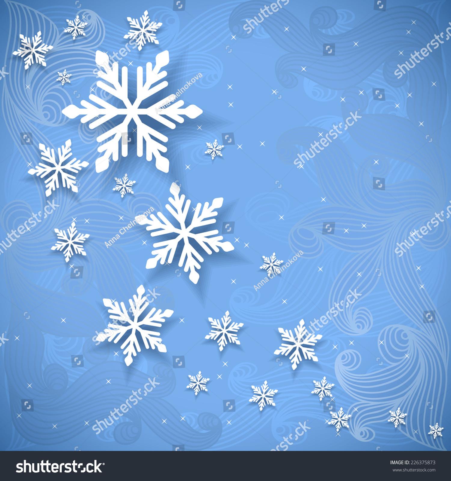 Vector invitation christmas new year card stock vector 226375873 vector invitation christmas or new year card with snowflakes stopboris Choice Image