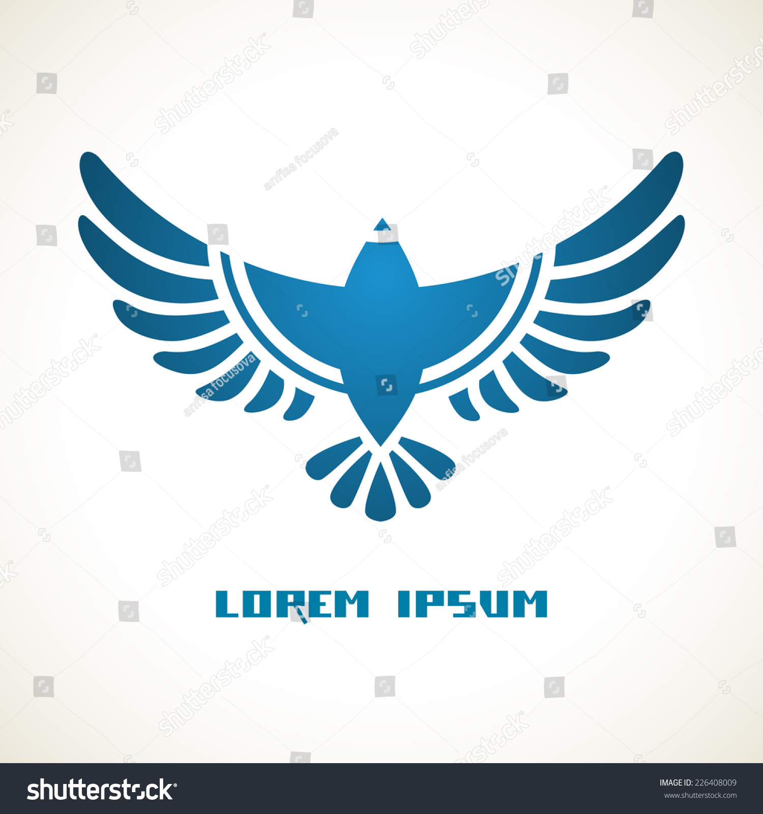 flying bird template printable - vector flying bird icon flat sign stock vector 226408009