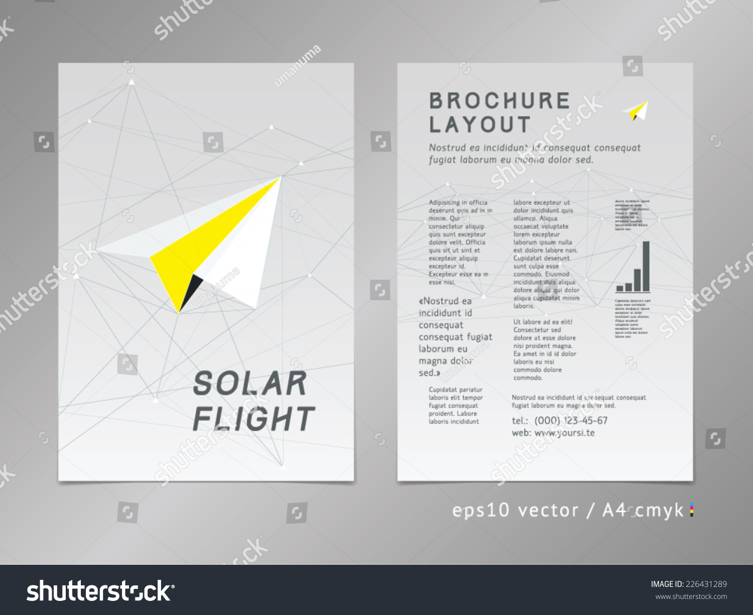 leaflet brochure cover page layout template stock vector  leaflet brochure cover page layout template polygonal design geometric sharp surfaces