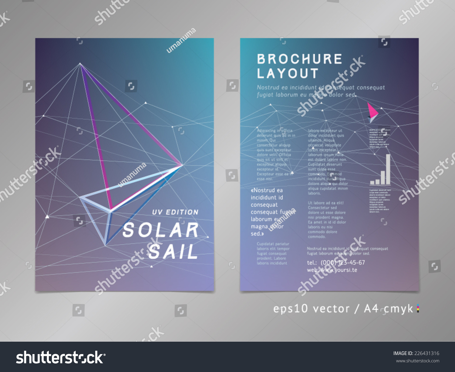 brochure leaflet cover page layout template stock vector  brochure leaflet cover page layout template polygonal design geometric sharp surfaces