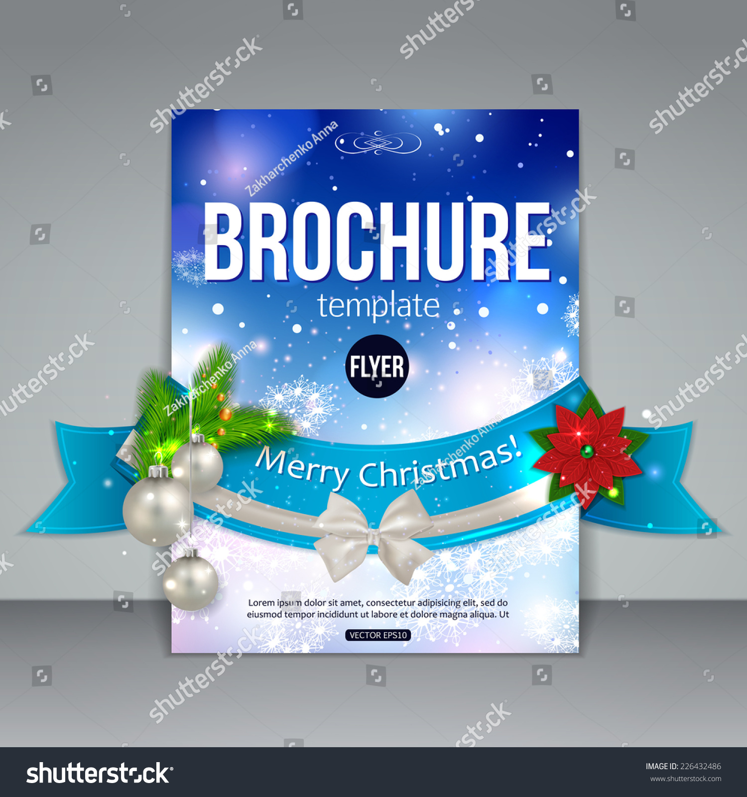 christmas brochure template abstract flyer design xmas fir save to a lightbox