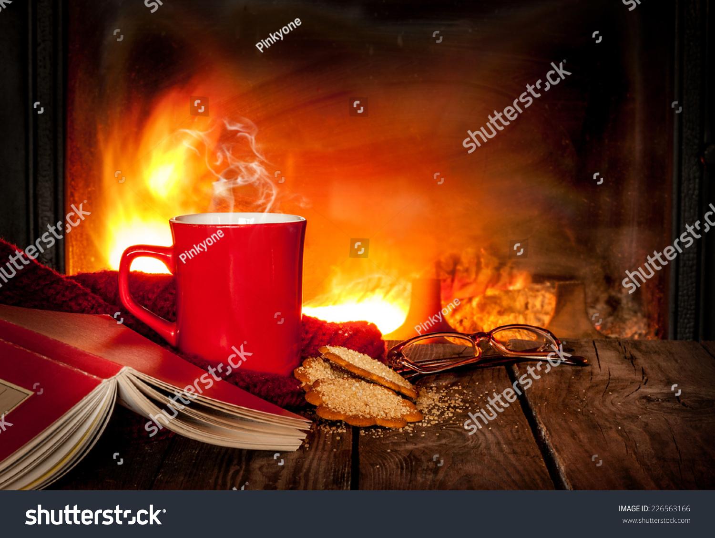 tea coffee red mug ginger stock photo 226563166 shutterstock