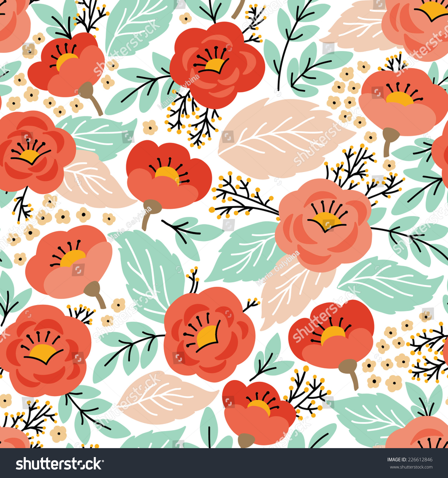 elegant seamless pattern flowers can be stock vector hd (royalty
