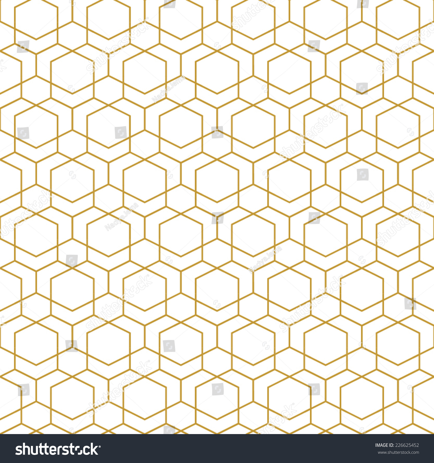 Abstract Seamless Geometric Pattern Monochrome White Stock Vector