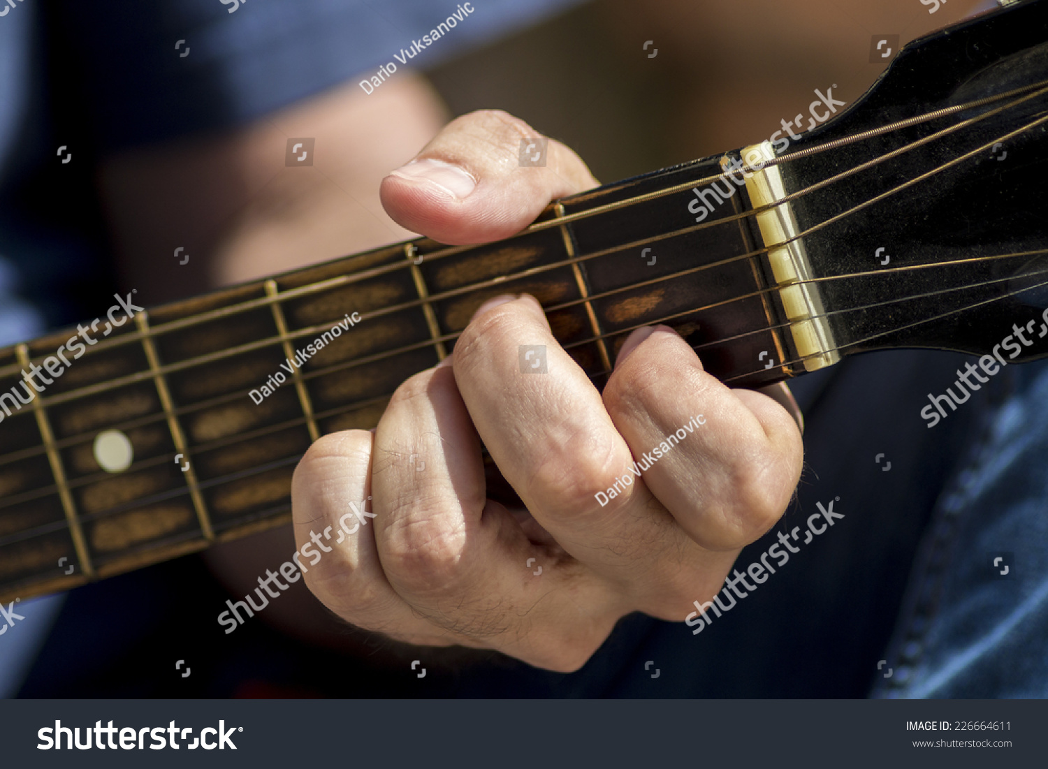 Left Hand Position Of Basic Chord On The Old Classic Guitar Ez Canvas